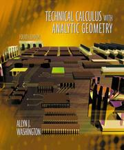 Cover of: Technical calculus with analytic geometry | Allyn J. Washington