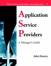 Cover of: Application Service Providers (ASPs)