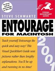 Cover of: Entourage 2001 for Macintosh | Steven A. Schwartz