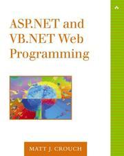 Cover of: ASP.NET and VB.NET Web Programming (The Addison-Wesley Microsoft Technology Series)