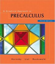 Cover of: A Graphical Approach to Precalculus | John Hornsby