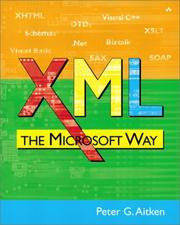 Cover of: XML The Microsoft Way