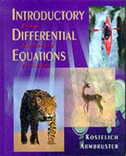 Cover of: Introductory differential equations