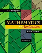 Mathematics with applications by Margaret L. Lial