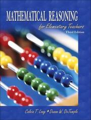 Cover of: Mathematical reasoning for elementary teachers