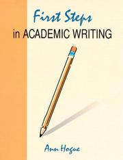 Cover of: First steps in academic writing