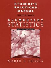 Cover of: Student's Solutions Manual to Accompany Elementary Statistics
