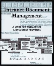 Cover of: Intranet document management