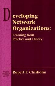 Cover of: Developing Network Organizations | Rupert F. Chisholm