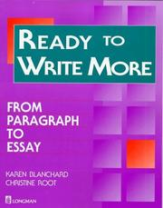 Cover of: Ready to Write More: from paragraph to essay