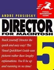 Cover of: Director 5 for Macintosh by Andre Persidsky