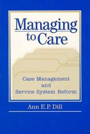 Cover of: Managing to Care