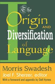 Cover of: The origin and diversification of language