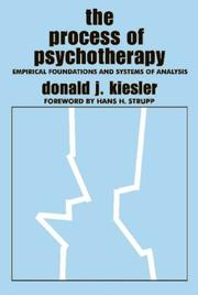 Cover of: The Process of Psychotherapy