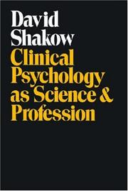 Cover of: Clinical Psychology as Science and Profession