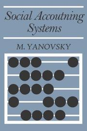 Cover of: Social Accounting Systems