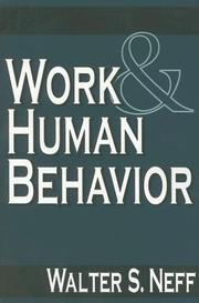 Cover of: Work and Human Behavior