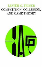 Cover of: Competition, Collusion, and Game Theory