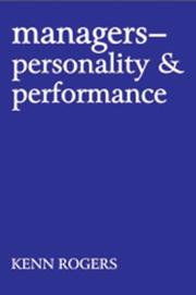 Cover of: Managers: personality & performance