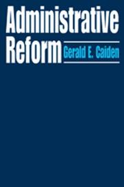 Cover of: Administrative Reform