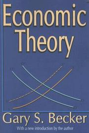 Cover of: Economic Theory