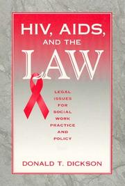 Cover of: HIV, AIDS, Aids, and the Law