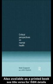 Cover of: Critical Perspectives on Mental Health