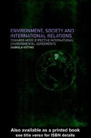 Cover of: Environment, Society and International Relations