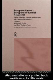 Cover of: European Union-European Industrial Relations? | Wolfgang Lecher