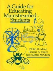 Cover of: A guide for educating mainstreamed students