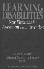 Cover of: Learning Disabilities | Nancy C. Jordan