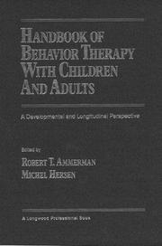 Cover of: Handbook of Behavior Therapy With Children and Adults