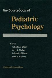 Cover of: Sourcebook of Pediatric Psychology, The
