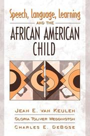 Cover of: Speech, language, learning, and the African American child