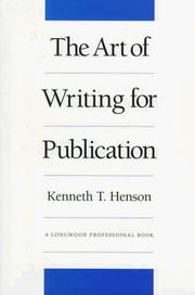 Cover of: The art of writing for publication
