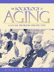Cover of: Sociology of Aging, The
