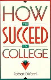 Cover of: How to Succeed in College