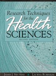 Cover of: Research techniques for the health sciences