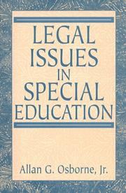 Cover of: Legal Issues in Special Education