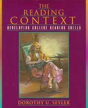 Cover of: The Reading Context