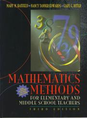 Cover of: Mathematics methods for elementary and middle school teachers | Mary M. Hatfield