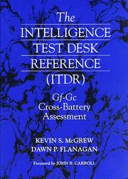 Cover of: intelligence test desk reference (ITDR) | Kevin S. McGrew