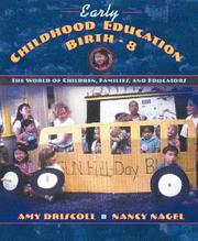 Cover of: Early childhood education, birth-8 | Amy Driscoll