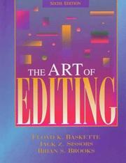 Cover of: The art of editing