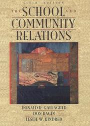 Cover of: The school and community relations