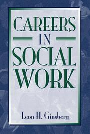 Cover of: Careers in social work | Leon H. Ginsberg