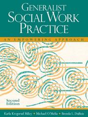 Cover of: Generalist Social Work Practice: an empowering approach