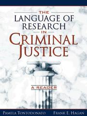 Cover of: Language of Research in Criminal Justice, The |