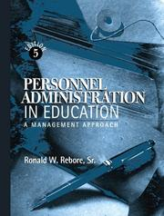Cover of: Personnel Administration in Education