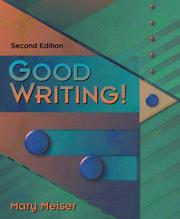 Cover of: Good writing!